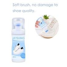 50 мл Белая обувь очиститель отбеливания для полировки, очистки инструмент Чистящая Щетка для обуви кроссовки Повседневная кожаная обувь Чистящая обувь принадлежности для ухода за