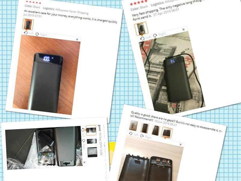 (Pas de batterie) bricolage housse de batterie portative double 2 Port USB chargeur de batterie boîte 8*18650 avec affichage de LED batterie non intégré