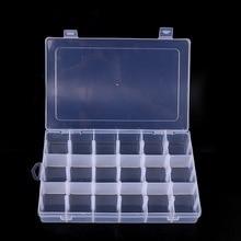 18 Slots Cells Transparent Portable Jewelry Tool Storage Box Container Ring Electronic Parts Screw Beads Organizer Plastic Box стоимость