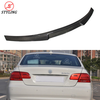 E92 Carbon Fiber Spoiler For BMW M3 E92 Coupe Rear trunk spoiler wing M4 Style 330i 335i 2005 2006 2007 2008 2009 2010 2011 2012 image