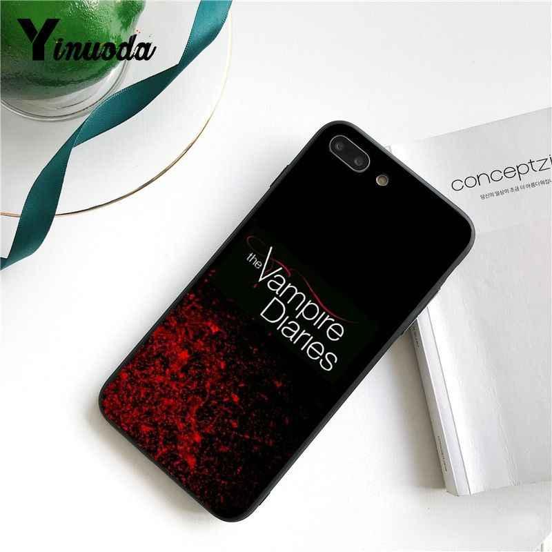 Yinuoda يوميات مصاص دماء التلفزيون الأسود لينة قذيفة غطاء إطار هاتف محمول آيفون 5 5Sx 6 7 7plus 8 8Plus X XS ماكس XR 10 11 برو ماكس