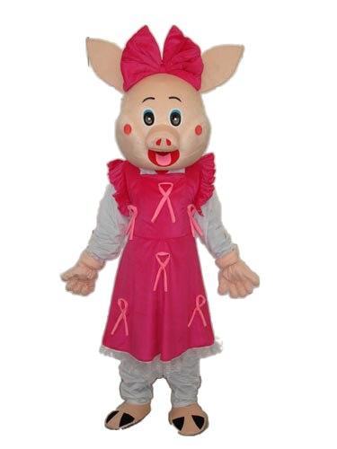 Новый стиль свинка Девочка Кукла талисман костюм для взрослых на Хеллоуин День Рождения мультфильм одежда костюмы для косплея