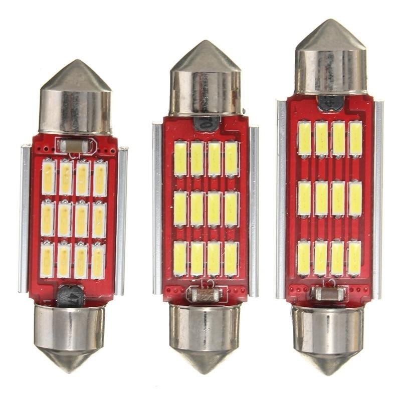 2pcs/4pcs/10pcs Led Dome Light 4014 SMD 12LED 36mm 39mm 42mm Canbus Interior Festoon Error Free Doom Lamp Bulb Reading Light