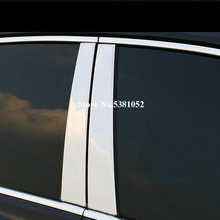 цена на 6Pcs Stainless Steel Car Styling Window B-pillars Molding Trim Sticker For Honda CRV CR-V Accessories 2012 2013 2014 2015 2016