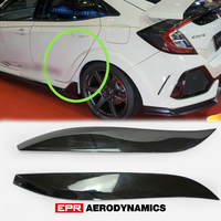 VRSAR1 Style FRP Fiber Glass Rear Fender Trim (Fit 5Dr Hatch) Fiberglass Wheel Flare Arch Kit For Honda Civic 2017 On Type R FK8