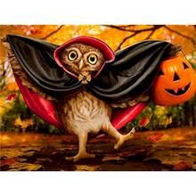Gatyztory Хэллоуин живопись маслом Кот по номерам для взрослых