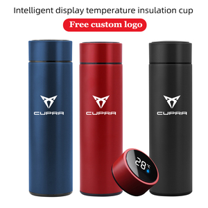 Image 2 - 500ml Portable Smart Thermos Mug With LED Temperature Display Thermos Cup For Bolero Salsa Tango Cupra only Cupra R Accessories