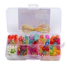 Acrylic-Bead-Kit Bracelet Necklace Beads-Set Plastic Jewelry Making-Toys Handmade DIY