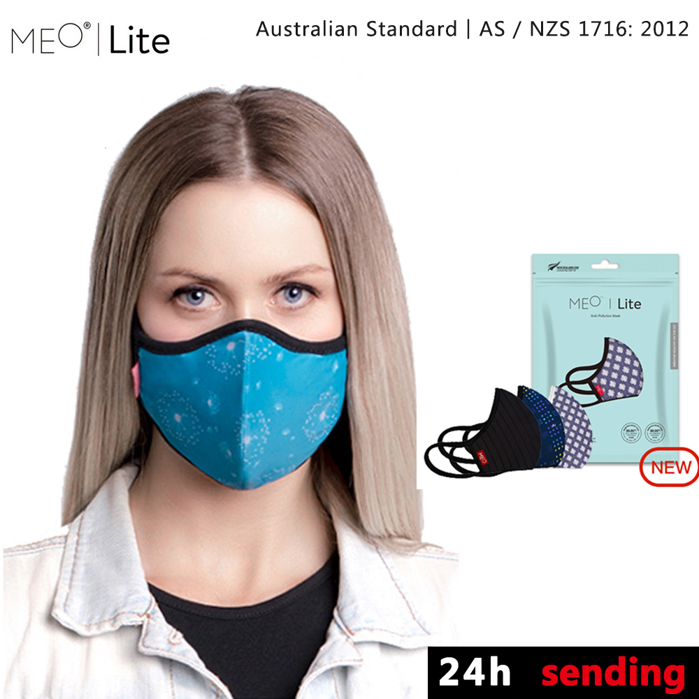New Product Listing MEO Fashion Mask Anti Haze Dust PM0.1 Breathable And Washable PM2.5 Filter 99.8% With Filter For Man Woman