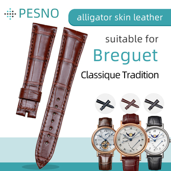 Pesno Suitable for Breguet Classique Tradition 5317 7787 7137BB Watch Strap Alligator Skin Leather Band Men Accessories 20mm image