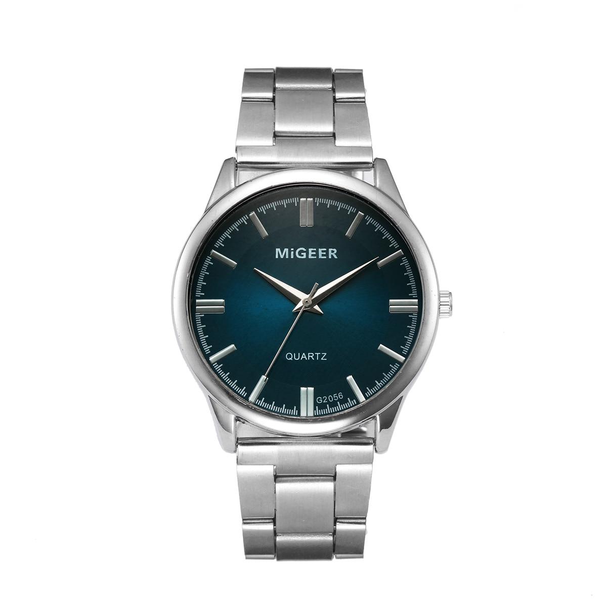 Men's Quartz Watch Fashion Crystal Stainless Steel Analog Quartz Wristwatch Horloges Mannen Relogio Masculino Zegarek Meski