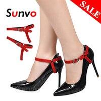 Lacets de chaussures femme pas de lacets de cravate pour chaussures à talons hauts anti-dérapant dame dentelle sangles de verrouillage décoration String livraison directe