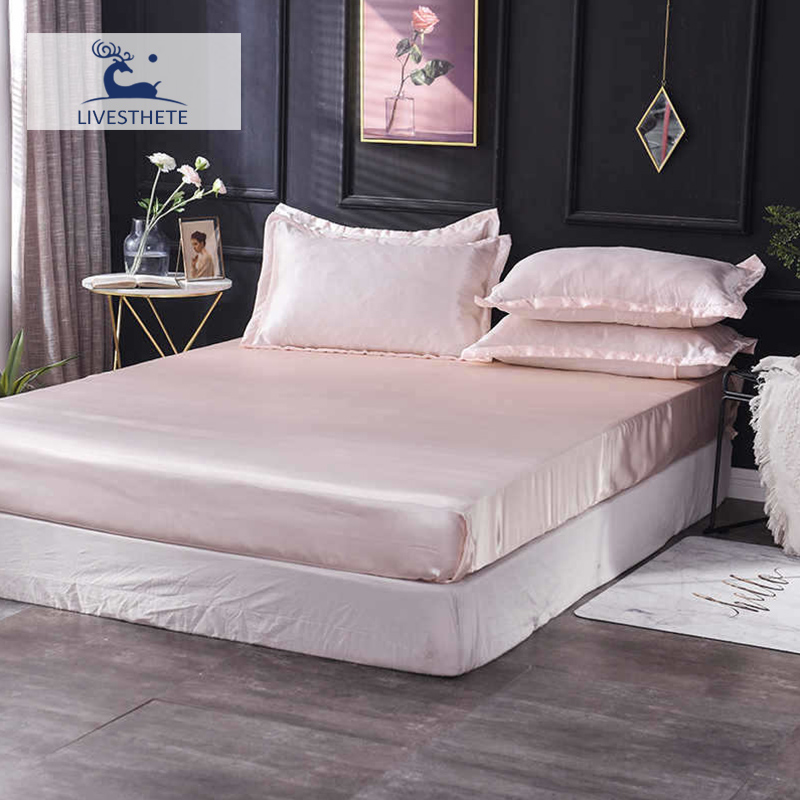 Liv-Esthete Luxury 1PCS Fitted Sheet Mattress Cover Bed On Elastic Band Rubber Linen Euro Decor Home Textiles