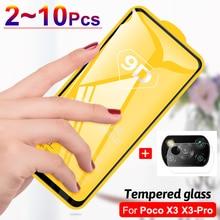Screen Protector&Camera Film for Xiaomi Poco X3 NFC X3 Pro, Safety Protective Glass Poco X3 Case PocoPhone X3 Poco X3 Pro Glass