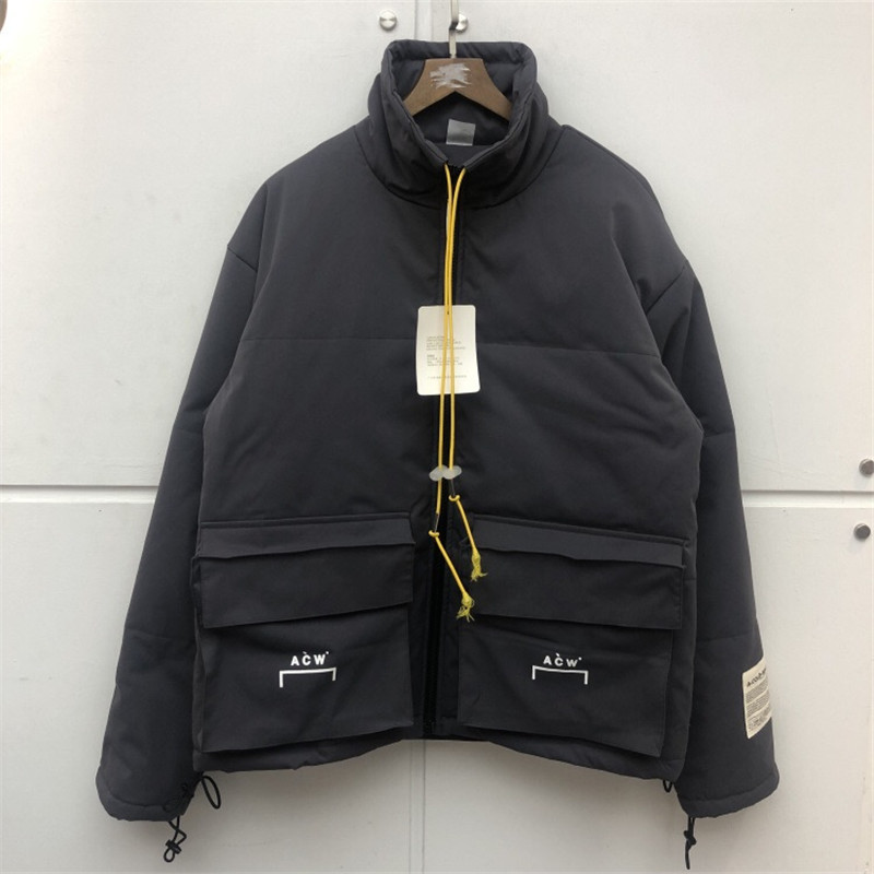 20SS Latest Kanye West Hip-hop ACW A-COLD-WALL Jacket Men Fashion Casual Winter Keep Warm Bomber Coat ZIP Big Pocket Jackets