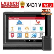 Herramienta de diagnóstico de coche Elite LAUNCH X431 V V4.0, Sistema completo OBD OBD2, lector de código, escáner automático, 2 años de actualización gratuita V Pro mini, 2021