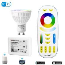 Светодиодный светильник Mi с регулируемой яркостью, 4 Вт, GU10 RGB CCT(2700-6500 K), светодиодный светильник, украшение для помещений+ 2,4G RF светодиодный пульт дистанционного управления