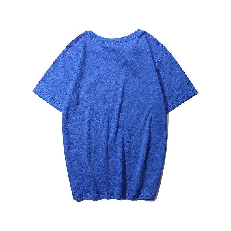 Женские и мужские футболки с коротким рукавом и вышивкой для пар, свободные футболки с круглым вырезом|Футболки|   | АлиЭкспресс
