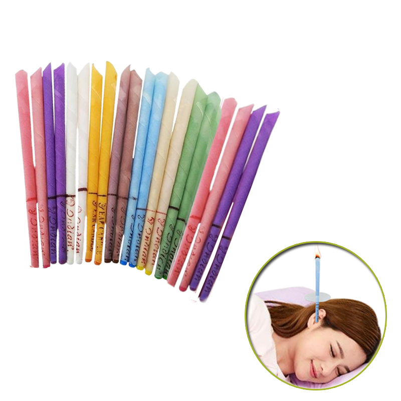 20-50- 100 pieces of aromatherapy ear candle (quiet bergamot - light yellow/horn with plug) ear maintenance