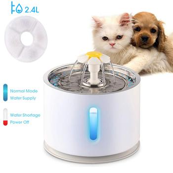 2 4L automatyczna fontanna wodna dla kota poziom wody okno LED elektryczny wyciszenie podajnik wody pies Pet Drinker miska dozownik dla zwierząt domowych tanie i dobre opinie 1000g Charge CN (pochodzenie) 250g Z tworzywa sztucznego cats