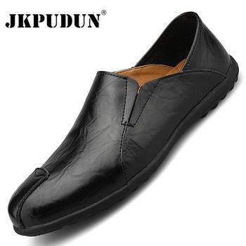 Oryginalne skórzane buty męskie luksusowe marki wygodne wsuwane formalne mokasyny męskie mokasyny 2020 włoskie czarne brązowe męskie buty do jazdy samochodem tanie i dobre opinie JKPUDUN Prawdziwej skóry Skóra bydlęca RUBBER Italian mens shoes brands Men loafers luxury brand Chaussure homme Slip-on