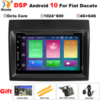 7 4+64G Android 10 DSP Car DVD Radio Player Navigation Multimedia Stereo For Fiat Ducato 2008 2015 Citroen Jumper Peugeot Boxer