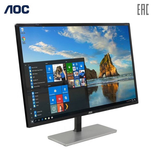 Монитор AOC Q3279VWF 31.5'' 2560х1440(WQHD) MVA,250cd/m2, H178°/V178°, 1.07B, 5ms, VGA, DVI, HDMI, DP, Tilt, Audio out,  Black