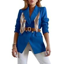 Женский Элегантный Модный шикарный облегающий Блейзер bambooboy