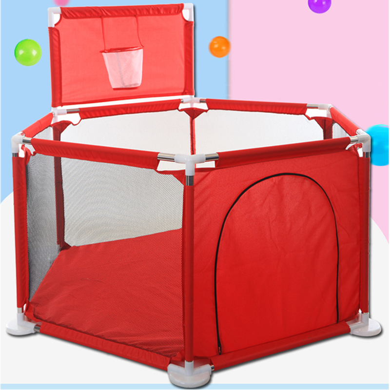 Baby Playpen For Kids Newborn Fence Playpen For Baby Pool Children's Tent For Kids Safety Barriers With Basketball Hoop