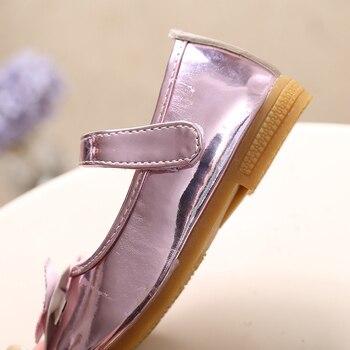 סנדלי תינוק אופנה בנות נעלי 2019 קיץ ריינסטון Bow-קשר ורוד לטיני ריקוד נעלי נסיכת נעלי בנות ילד נעליים