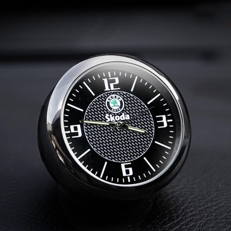 Free Shipping Car Clock Car Electronic Clock Interior Decoration Quartz Watch Styling Accessories For Skoda Mingrui Speed