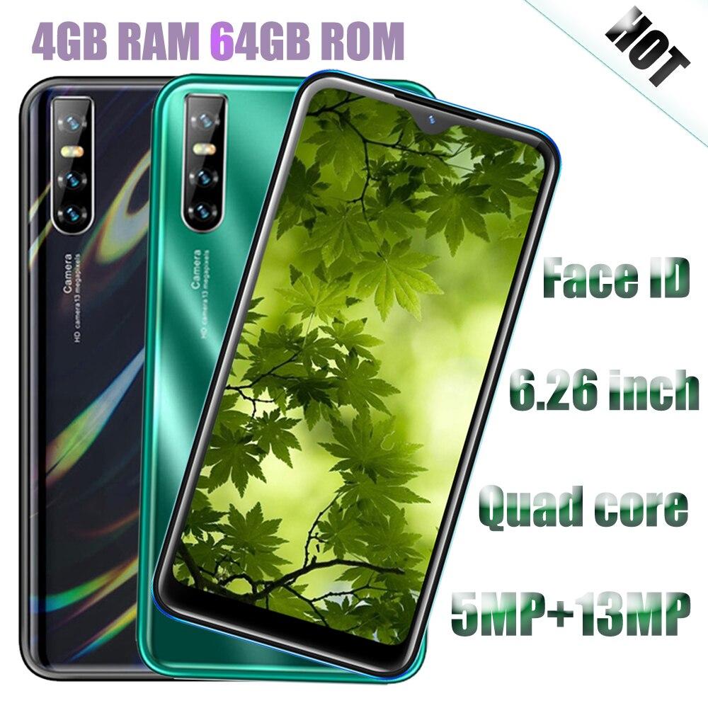 P40 Pro Smartphones Ontgrendeld Gezicht Id Erkenning 13MP 6.26Inch Water Drop Screen Android Mobiele Telefoons 4G Ram 64G Rom Mobiele Telefoon