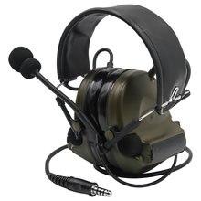 Тактическая гарнитура comtac ii airsaft военные наушники с шумоподавлением