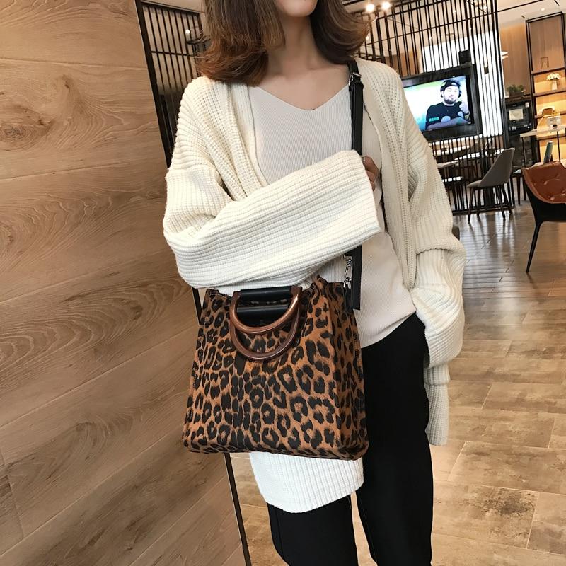 2019 INS Hotsaled Woman Leopard Tote Bag Luxury Handbags Women Designer With Handle Shoulder Bag Women's Crossbody Bags Handbag
