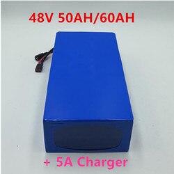 Vélo électrique 48V 60Ah 50Ah batterie au Lithium pour 4000W 5000W 100A BMS e-bike batterie 48v 52v livraison gratuite + 5A chargeur