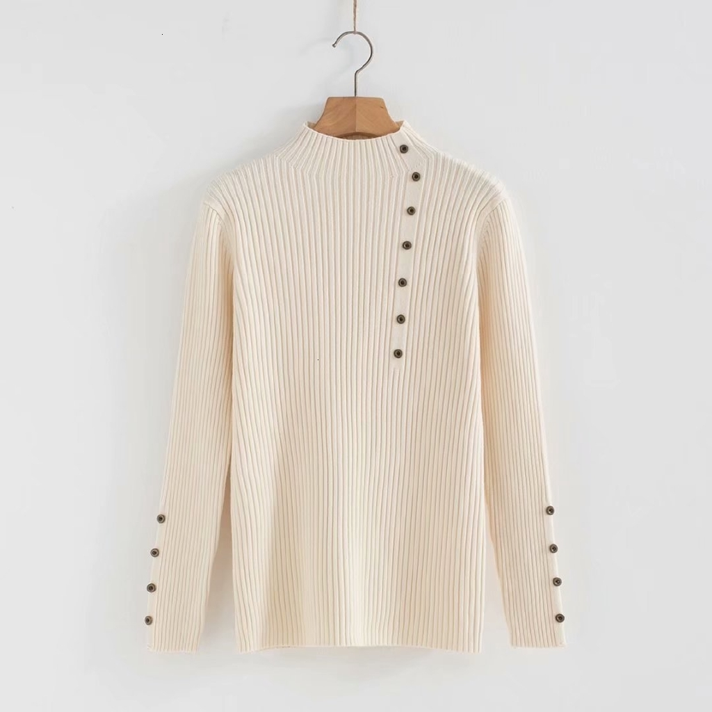 Plus Six Women Very Elastic Sweaters Long Sleeves Shirts Around The Neck Twist Used Long Tops