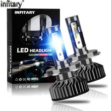 2Pcs H4 H7 LED Headlight Bulb Canbus Super Bright 16000ml ZES Chips H1 H3 H11 H27 880 HB3 9005 9006 9007 6500K Auto Fog Lamp
