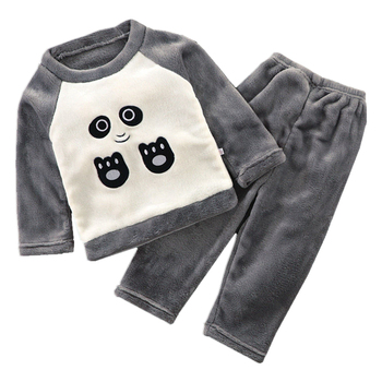 3pcs baby boys clothes sets winter fall birthday outfit toddler cloth kids sport suit for boys cotton warm hoody vest 0 6 years Autumn winter children flannel pajamas sets boys girls baby home clothes suit toddler kids warm panda outfit 2piece sets
