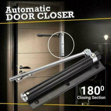 Hot Automatic Door Self-Closing Hinge Mute Easy to Rebound No Slotting Punching Free Door Closer Home XJS789