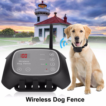 Dog Training Wireless Electronic fence IP65 Waterproof And Rechargeable Wireless Dog Pet Fence system Remote Trainning Collar