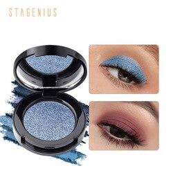 Paleta de sombras de ojos en polvo monocromático, 16 colores, brillo mate, resistente al agua, brillo de larga duración, TSLM1