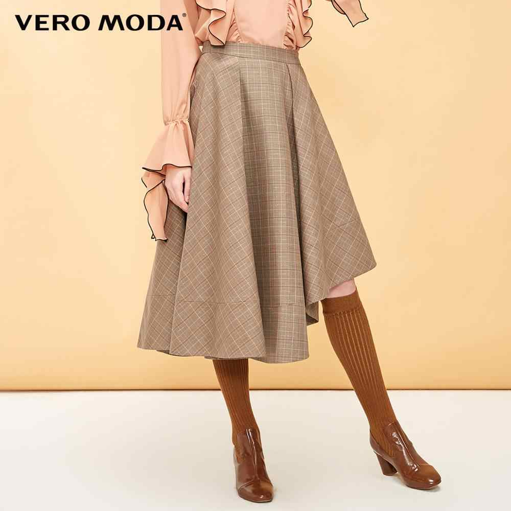 Vero Moda נשים של בציר משובץ סימטרי מכפלת חצאית | 319116527