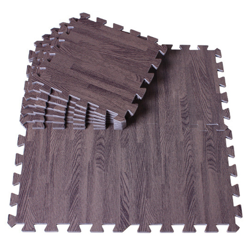 4PCS Imitation Wood Grain Puzzle Mat EVA Foam Mat Household Tatami Stitching Crawling Mat Children's Games Non-Slip Carpet Yoga