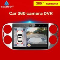 Smartour 360 Grad Auto Surround View System Auto Vogel Ansicht Panorama System 4 Kamera 1080P DVR Recorder 2D Parkplatz unterstützung|Auto-Multi-Angle-Kamera|Kraftfahrzeuge und Motorräder -