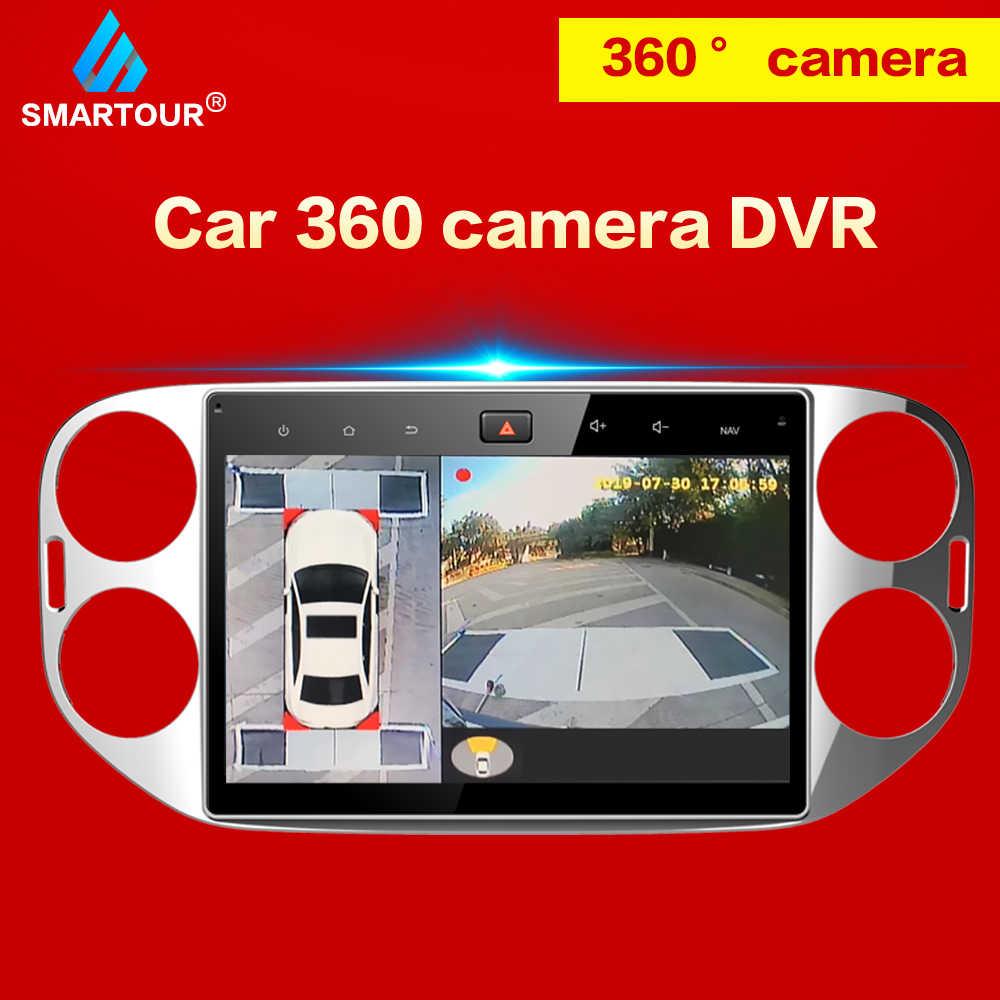 Smartour 360 Grad Auto Surround View System Auto Vogel Ansicht Panorama System 4 Kamera 1080P DVR Recorder 2D Parkplatz unterstützung