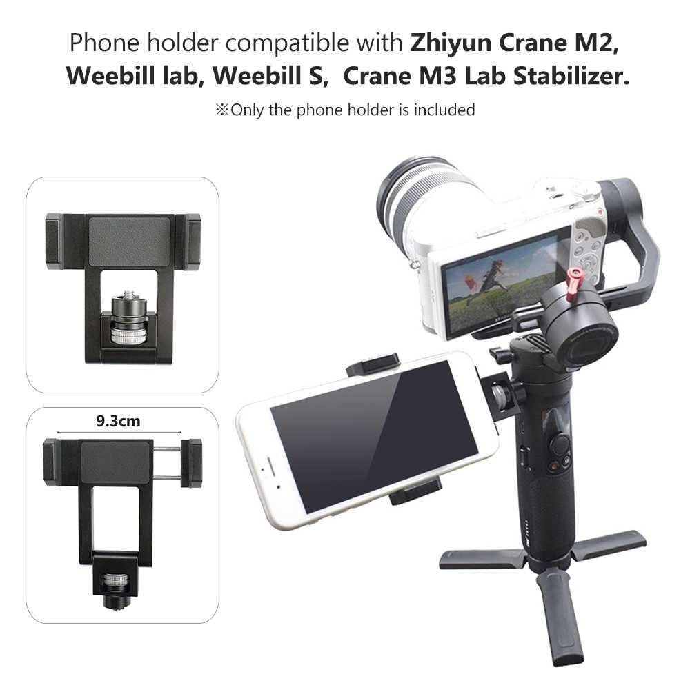 Stabilizator gimbal uchwyt na telefon klips do telefonu uchwyt zacisku 1/4 Cal śruba do Zhiyun Crane M2/Weebill Lab/Weebill S/Crane M3 Lab
