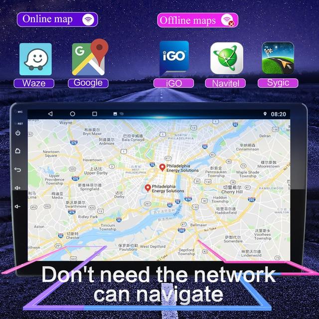 """2Din z systemem android 8.1 dla Toyota Corolla \ other network cards z systemem Android 2013 2014 2015 2016 samochodów Radio odtwarzacz multimedialny 2 din nawigacja gps 10.1"""""""