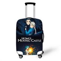 18-32 ''Miyazaki Hayao wandelnde Schloss Elastische Verdicken Gepäck Koffer Abdeckung Schützen Staub Tasche Fall Cartoon reise Abdeckung
