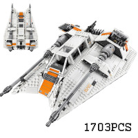 New 05084 AIBOULLY series the Snowspeeder Model Building Bricks set Classic education Toy for children compatible 75144