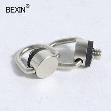 D anel de 1/4 polegada Pendurado Conectar Adaptador fix Parafuso parafuso câmera Para tripé DSLR Camera Shoulder Rápida prato de liberação Estilingue cinta